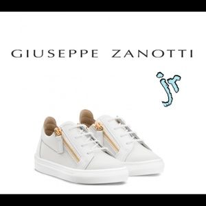 giuseppe zanotti jr NEW white calfskin lowtops
